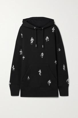 Givenchy - Oversized Embellished Cotton-jersey Hoodie - Black