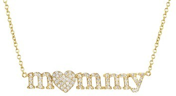 Jennifer Meyer m<3mmy Necklace in Diamonds to Benefit Baby2Baby - Yellow Gold