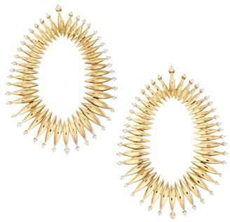 Hueb Tribal 18K Yellow Gold & Diamond Drop Earrings