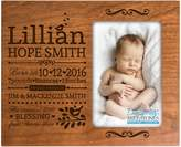 Dayspring Personalized New Baby birth announcement picture frame for newborn boys and girls Custom engraved photo frame for new mom and dad parents and grandparents