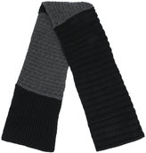 McQ cable knit ribbed scarf
