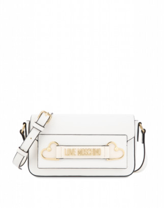 Love Moschino Shoulder Bag Metal Hearts Woman White Size U It - (one Size Us)