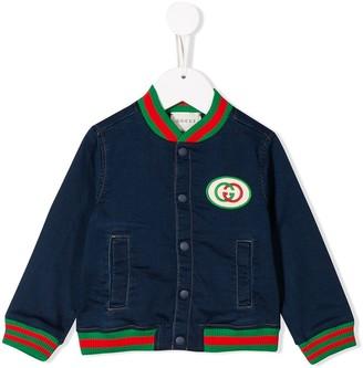 Gucci Kids GG patch bomber jacket