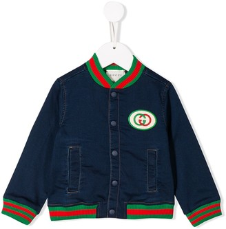 Gucci Kids GG patch bomber jacket