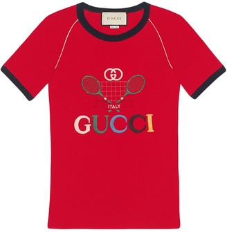 Gucci Tennis embroidered T-shirt