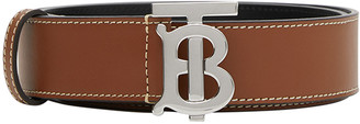 Burberry Men's TB Leather Belt w/ Contrast Stitching