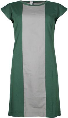 Format PLUM Green Grey Single Plain Dress - S - Green/Grey