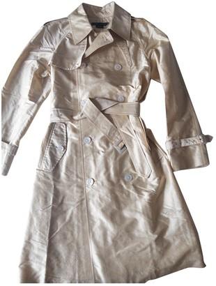 Ralph Lauren Beige Silk Trench Coat for Women