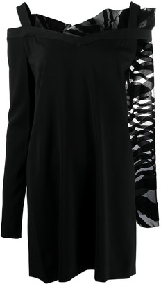 Just Cavalli Asymmetric Mini Dress