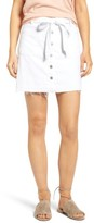 Women's 7 For All Mankind Released Hem Denim A-Line Skirt