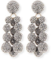 Sachin + Babi Trinity Beaded Clip Earrings