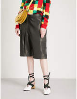 J.W.Anderson Paperbag-waist leather shorts