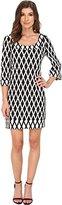Jessica Simpson Women's Printed Ponte Shift Dress