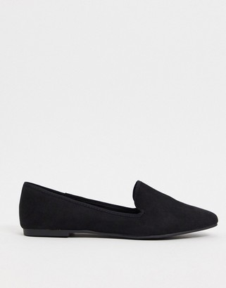 ASOS DESIGN Lakeside slipper ballet flats in black