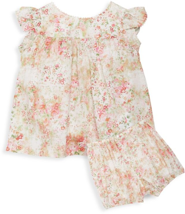 Bonpoint Baby's & Little Girl's 2-Piece Floral Dress & Bloomers Set