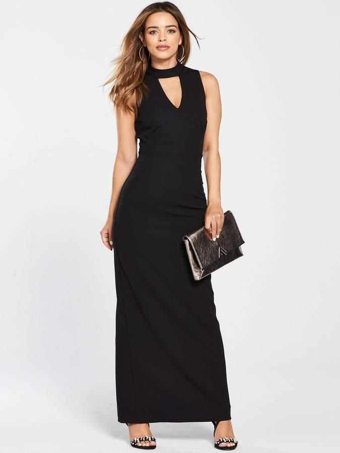 912c2a5e Open Shoulder Maxi Dress Black - ShopStyle UK