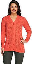 Liz Claiborne New York Cotton Cashmere Fisherman Sweater