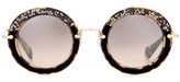 Miu Miu Noir Circle Sunglasses