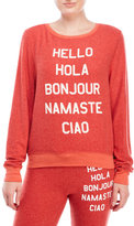 Wildfox Couture Say Hello Baggy Beach Jumper