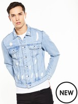 ONLY & SONS Only And Sons Rocker Ripped Denim Jacket