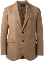 Neil Barrett leather blazer - men - Lamb Skin/Cupro - M