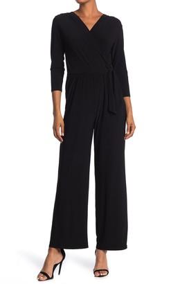 Tash + Sophie Quarter Sleeve Jersey Knit Jumpsuit