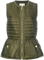 MICHAEL Michael Kors feather down padded peplum gilet - women - Feather Down/Polyester - XS