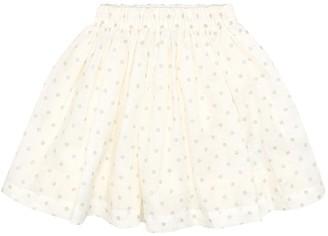 Bonpoint Suzon polka-dot linen skirt