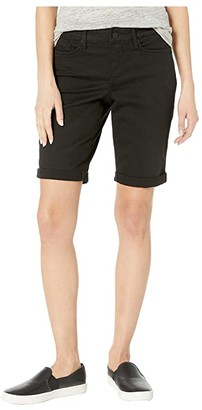 NYDJ Petite Petite Briella Roll Cuff Shorts in Black (Black) Women's Shorts