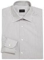 Ermenegildo Zegna Classic-Fit Striated Cotton Dress Shirt