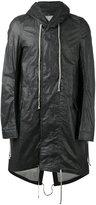 Rick Owens high low hem raincoat