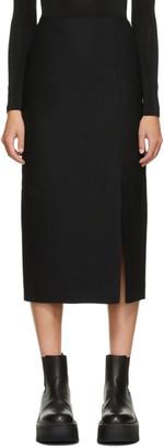 Valentino Black Wool and Silk Skirt