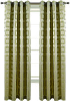 Asstd National Brand Retro Jacquard Grommet-Top Curtain Panel