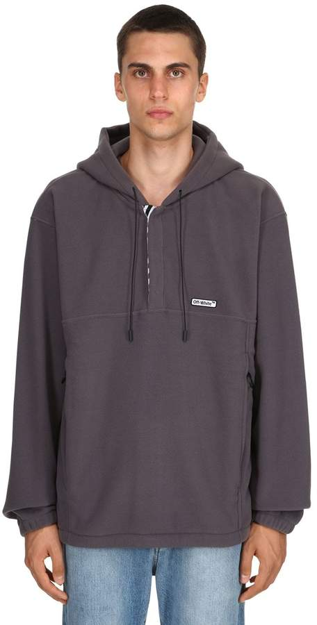 Off-White Oversized Hooded Fleece Anorak