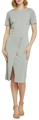 Oxford Twyla Ponti Zip Detail Dress