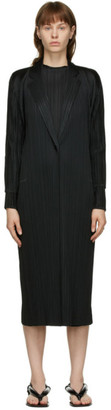 Pleats Please Issey Miyake Black Montly Colors October Coat
