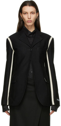 Ann Demeulemeester SSENSE Exclusive Black God of Wild Simplistic Blazer