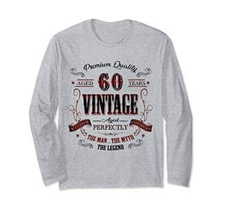 IDEA 60th birthday gift for Vintage 60 years old party Long Sleeve T-Shirt