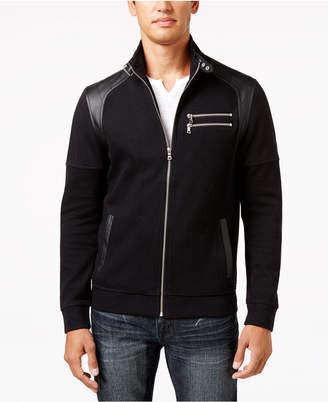 INC International Concepts Inc Men Fire Knit Moto Jacket