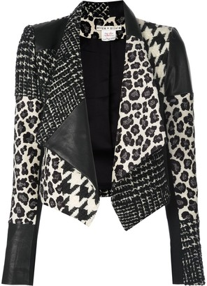 Alice + Olivia Harvey patchwork jacket