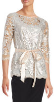 Marina Belted Sequined Top