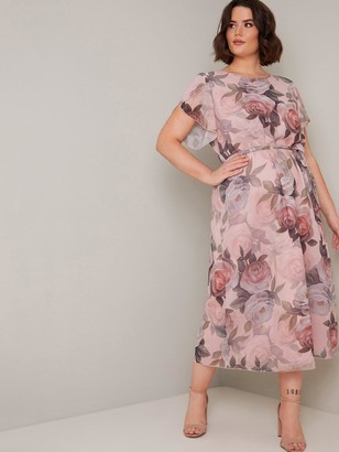 Chi Chi London Curve Shantal Dress - Pink