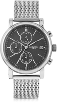 Forzieri Berlino Silver Tone Stainless Steel Men's Chrono Watch