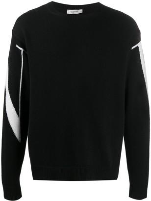 Valentino VLTN intarsia cashmere jumper