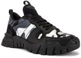 Valentino Rockrunner Plus Sneaker in Black & Silver | FWRD