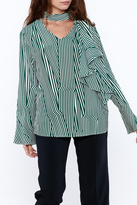 Pinkyotto Crooked Stripe Print Top