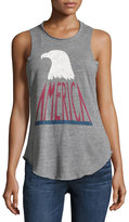 Chaser America Graphic-Front Tank, Gray