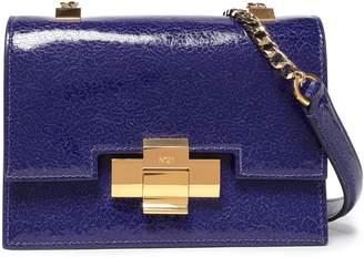 N°21 N21 Cracked Glossed-leather Shoulder Bag