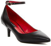 Charles Jourdan Victoria Ankle Strap Kitten Heel Pump