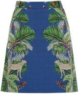 Oasis Zsl Cheetah Print Mini Skirt